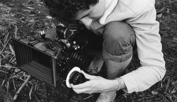 Tyler Macri filming a scene on location
